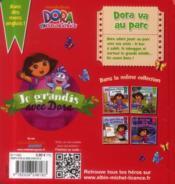 Dora va au parc - 4ème de couverture - Format classique