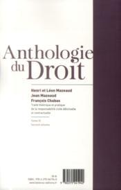 Traité théorique et pratique de la responsabilité civile délictuelle et contractuelle t.3 ; second volume - 4ème de couverture - Format classique