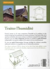 Traiter l'humidité - 4ème de couverture - Format classique
