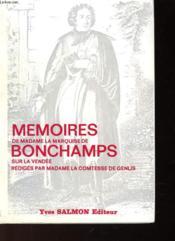 Memoires De Madame La Marquise De Bonchamps - Couverture - Format classique