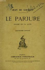 Le Parjure - Couverture - Format classique