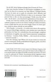 Les sept hiboux - 4ème de couverture - Format classique