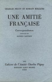 Une amitié Française. - Couverture - Format classique