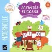 Activités stickers ; lettres majuscules ; MS - Couverture - Format classique