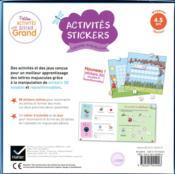 Activités stickers ; lettres majuscules ; MS - 4ème de couverture - Format classique