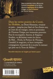 Le seigneur des anneaux T.1 ; la fraternité de l'anneau - 4ème de couverture - Format classique