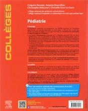 Pédiatrie : réussir son DFASM ; les connaissances clés médicales et chirurgicales + entraînements corrigés (8e édition) - 4ème de couverture - Format classique