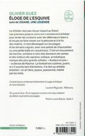 L'éloge de l'esquive ; Zidane, une légende - 4ème de couverture - Format classique