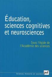Éducation, sciences cognitives et neurosciences - Intérieur - Format classique