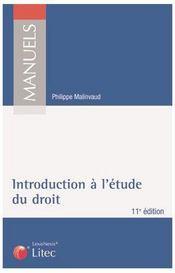 Introduction à l'étude du droit - Intérieur - Format classique