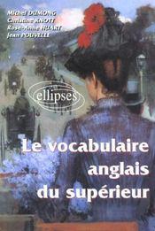 Le vocabulaire anglais du superieur - Intérieur - Format classique