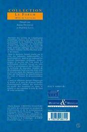 Une politique culturelle à la rencontre d'un territoire ; culture scientifique technique industrielle en région lorraine - 4ème de couverture - Format classique