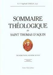 Sommaire théologique de Saint Thomas d'Aquin t.2 - Intérieur - Format classique