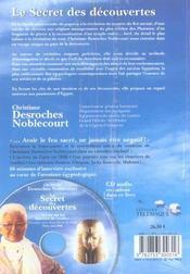 Le Secret Des Découvertes - 4ème de couverture - Format classique