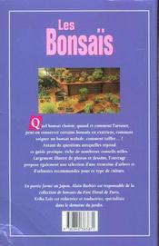 Decouvrir Et Reussir Bonsais (Les) - 4ème de couverture - Format classique