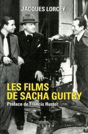 Les films de sacha guitry - Couverture - Format classique