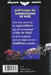 Petit Lexique Des Superstitions De Noel - 4ème de couverture - Format classique