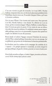 Nicolas Sarkozy ; de Neuilly à l'Elysée - 4ème de couverture - Format classique