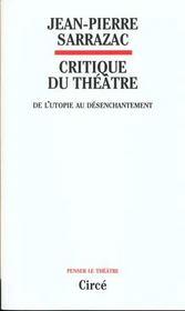 Critique Du Theatre - Intérieur - Format classique