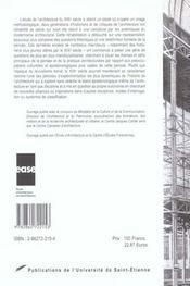 L'architecture, les sciences et la culture de l'histoire au xixe siecle - 4ème de couverture - Format classique