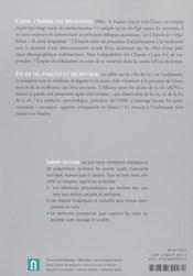 Revue Liberte Politique T.25 ; Chine : L'Empire Des Mutations - 4ème de couverture - Format classique