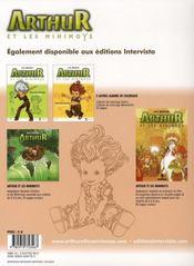 Arthur et les minimoys ; album de coloriage t.2 ; Sélénia - 4ème de couverture - Format classique