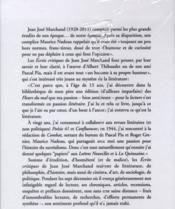 Écrits critiques 1941-2011 - 4ème de couverture - Format classique