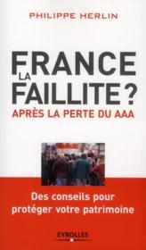 France, la faillite ? après la perte du AAA ; des conseils pour protéger votre patrimoine - Couverture - Format classique