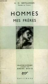 Hommes Mes Freres. Collection Catholique. - Couverture - Format classique