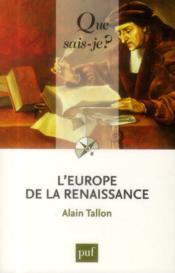 L'Europe de la Renaissance (2e édition) - Couverture - Format classique