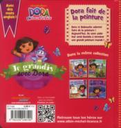Dora fait de la peinture - 4ème de couverture - Format classique
