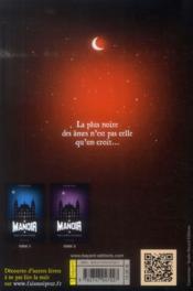 Le manoir - saison 1 T.3 ; Alisande et le cercle de feu - 4ème de couverture - Format classique