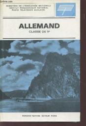 ALLEMAND / CLASSE DE 5è / RADIO TELEVISION SCOLAIRE. - Couverture - Format classique