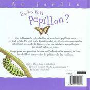 Es-Tu Un Papillon - 4ème de couverture - Format classique