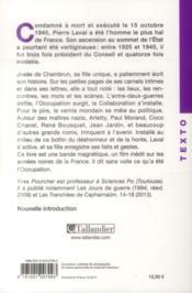 Pierre Laval vu par sa fille - 4ème de couverture - Format classique