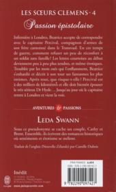 Les soeurs Clemens t.4 ; passion épistolaire - 4ème de couverture - Format classique