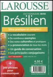 Mini dictionnaire Larousse ; français-brésilien / brésilien-français (édition 2016) - 4ème de couverture - Format classique