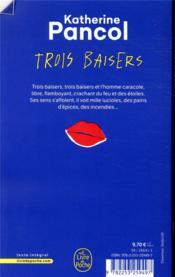 Trois baisers - 4ème de couverture - Format classique