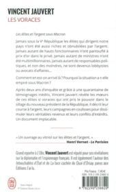 Les voraces ; les élites et l'argent sous Macron - 4ème de couverture - Format classique