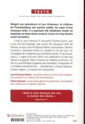 Fontainebleau ; mille ans d'histoire de France - 4ème de couverture - Format classique