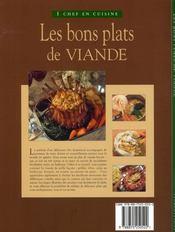 Les bons plats de viande - 4ème de couverture - Format classique
