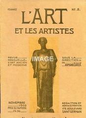 L'ART ET LES ARTISTES. SOUS LA DIRECTION DE MR ARMAND DAYOT. NOVEMBRE 1905. N°8. LE RETABLE DE BOURBON AU LOUVRE. FREDERIC WATTS. LES PASOS. LE CLASSICISME DE MANET. LE MOIS ARTISTIQUE. EAU-FORTE DE PENNEQUIN SC.. (Poids de 330 grammes) - Intérieur - Format classique