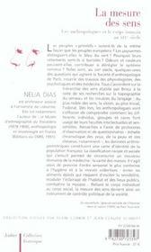 La Mesure Des Sens ; Les Anthropologues Et Le Coeur Humain Au Xix Siecle - 4ème de couverture - Format classique