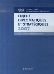 Enjeux diplomatiques et stratégiques - Intérieur - Format classique