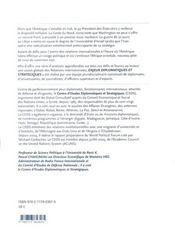 Enjeux diplomatiques et stratégiques - 4ème de couverture - Format classique