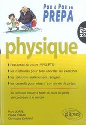 Physique Mpsi Ptsi L'Essentiel Du Cours Methodes Solutions Conseils Pour Reussir Son Annee De Prepa - Intérieur - Format classique