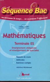Mathématiques ; Terminale S - Couverture - Format classique