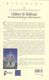 Abbaye de maillezais - 4ème de couverture - Format classique