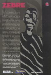 Zebre (Le) - 4ème de couverture - Format classique