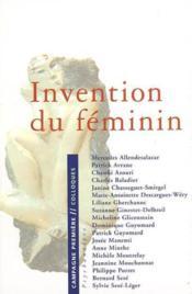 Invention du féminin - Couverture - Format classique